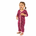 Kickee Pants Ruffle Bamboo Coverall in Berry Cow - last one size 6-12M!