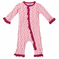 Kickee Pants Ruffle Bamboo Coverall in Lotus Buds