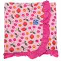 Kickee Pants Ruffle Blanket in Lotus Berries