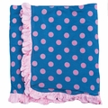 Kickee Pants Ruffle Blanket in Twilight Dot