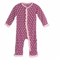 Kickee Pants Ruffle Coverall in Amethyst Berries