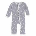 Kickee Pants Ruffle Coverall in Falling Feather