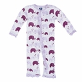 Kickee Pants Ruffle Coverall in Girl Bubble Elephant