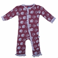 Kickee Pants Ruffle Coverall in Grapevine Sheep