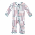 Kickee Pants Ruffle Coverall in Land Quilt