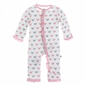 Kickee Pants Ruffle Coverall in Lotus Blackbirds - last one size 2T!