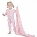 Kickee Pants Ruffle Coverall in Lotus Butterfly
