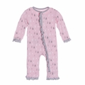 Kickee Pants Ruffle Coverall in Lotus Rain Drops