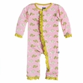 Kickee Pants Ruffle Coverall in Lotus Turtle
