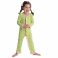 Kickee Pants Ruffle Coverall in Meadow Flower Lattice