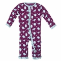 Kickee Pants Ruffle Coverall in Melody Singing Birds