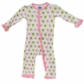Kickee Pants Ruffle Coverall in Natural Koala - size 3T left!