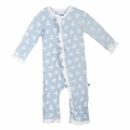 Kickee Pants Ruffle Coverall in Pond Flying Birds