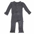 Kickee Pants Ruffle Coverall in Stone