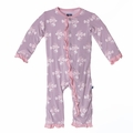 Kickee Pants Ruffle Coverall in Sweet Pea Lion Fish
