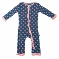 Kickee Pants Ruffle Coverall in Twilight Dot