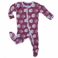 Kickee Pants Ruffle Footie in Grapevine Sheep - size 18-24M left!