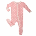 Kickee Pants Ruffle Footie in Lotus Dot