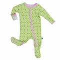 Kickee Pants Ruffle Footie in Meadow Flower Lattice