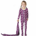 Kickee Pants Ruffle Footie in Melody Singing Birds