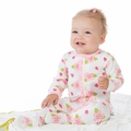 Kickee Pants Ruffle Footie in Natural Ladybug - size 4T left!