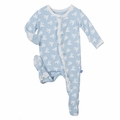 Kickee Pants Ruffle Footie in Pond Flying Birds