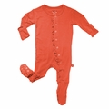 Kickee Pants Ruffle Footie in Poppy