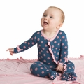 Kickee Pants Ruffle Footie in Twilight Dot