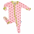 Kickee Pants Ruffle Footie in Watermellon