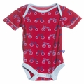 Kickee Pants Short Sleeve Onesie in Balloon Tricycle