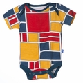 Kickee Pants Short Sleeve Onesie in Bauhause