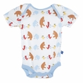 Kickee Pants Short Sleeve Onesie in Boy Parade