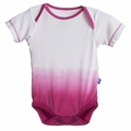 Kickee Pants Short Sleeve Onesie in Bubblegum Dip-Dye