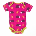 Kickee Pants Short Sleeve Onesie in Calypso Hedgehog