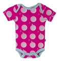 Kickee Pants Short Sleeve Onesie in Calypso Record Bird