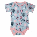 Kickee Pants Short Sleeve Onesie in Girl Baloons