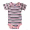 Kickee Pants Short Sleeve Onesie in Girl Sail Away Stripe