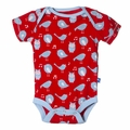 Kickee Pants Short Sleeve Onesie in Jazz Singing Birds
