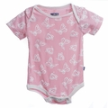 Kickee Pants Short Sleeve Onesie in Lotus Butterfly - size 18-24M left!