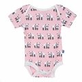 Kickee Pants Short Sleeve Onesie in Lotus Panda