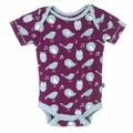 Kickee Pants Short Sleeve Onesie in Melody Singing Birds