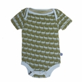Kickee Pants Short Sleeve Onesie in Moss Ant