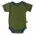 Kickee Pants Short Sleeve Onesie in Moss Twilight