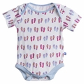 Kickee Pants Short Sleeve Onesie in Natural Flip Flop - last one size 18-24M!