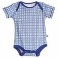 Kickee Pants Short Sleeve Onesie in Natural Wicker