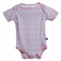 Kickee Pants Short Sleeve Onesie in Pearl Heart Chain - size 18-24M left!