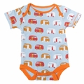 Kickee Pants Short Sleeve Onesie in Pond Camper - size 18-24M left!