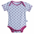 Kickee Pants Short Sleeve Onesie in Pond Flower Lattice - last one size 18-24M!