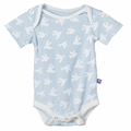 Kickee Pants Short Sleeve Onesie in Pond Flying Birds - size 12-18M left!