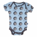 Kickee Pants Short Sleeve Onesie in Pond Record Birds